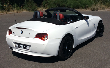 BMW Z4 wrapped in 3M 1080 matte white vinyl