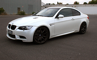 BMW E92 M3 wrapped in 3M 1080satin pearl white vinyl