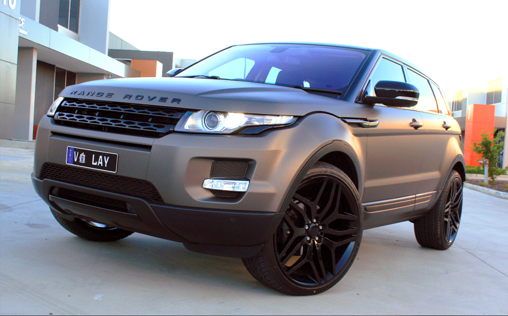 range rover evoque wrapped in 3m matte charcoal metallic ultimate car wraps melbourne. Black Bedroom Furniture Sets. Home Design Ideas