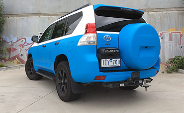 Toyota Prado wrapped in 3M matte blue Melbourne