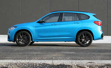 BMW X1 car wrapped in Melbourne using 3M Satin Ocean Shimmer vinyl