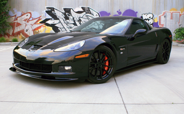 Corvette Z06 wrapped in clear paint protection film
