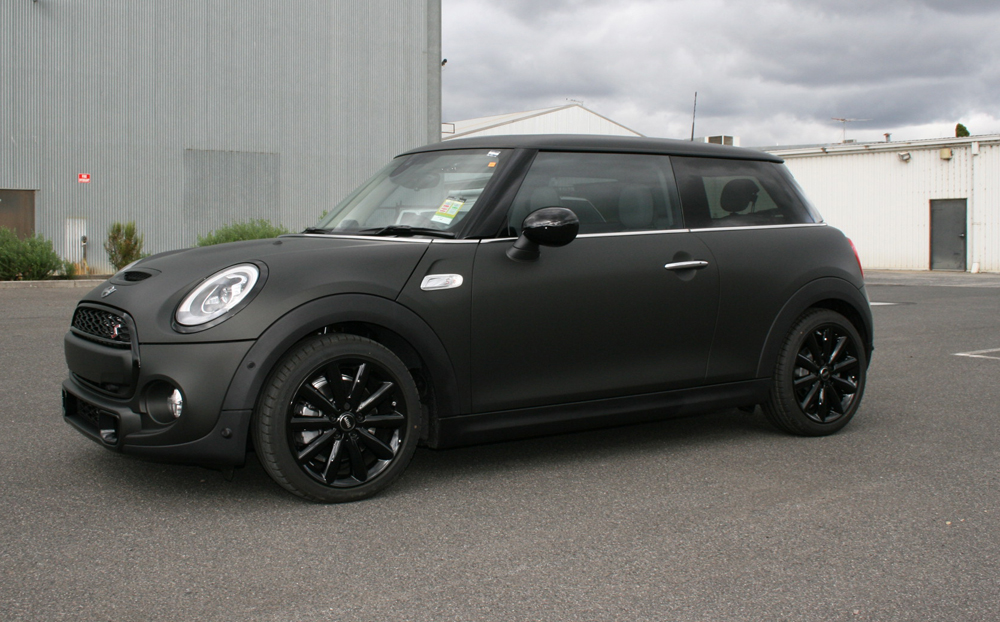 Mini Cooper S Wrapped In 3m Matte Black Ultimate Car