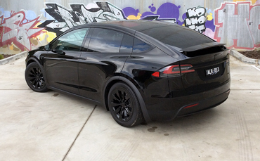 Tesla Model X chrome delete blackout