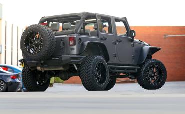 Jeep Wrangler wrapped in 3M Matte Dark Grey
