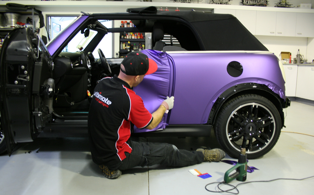 Mini Cooper S Wrapped In Avery Matte Metallic Purple