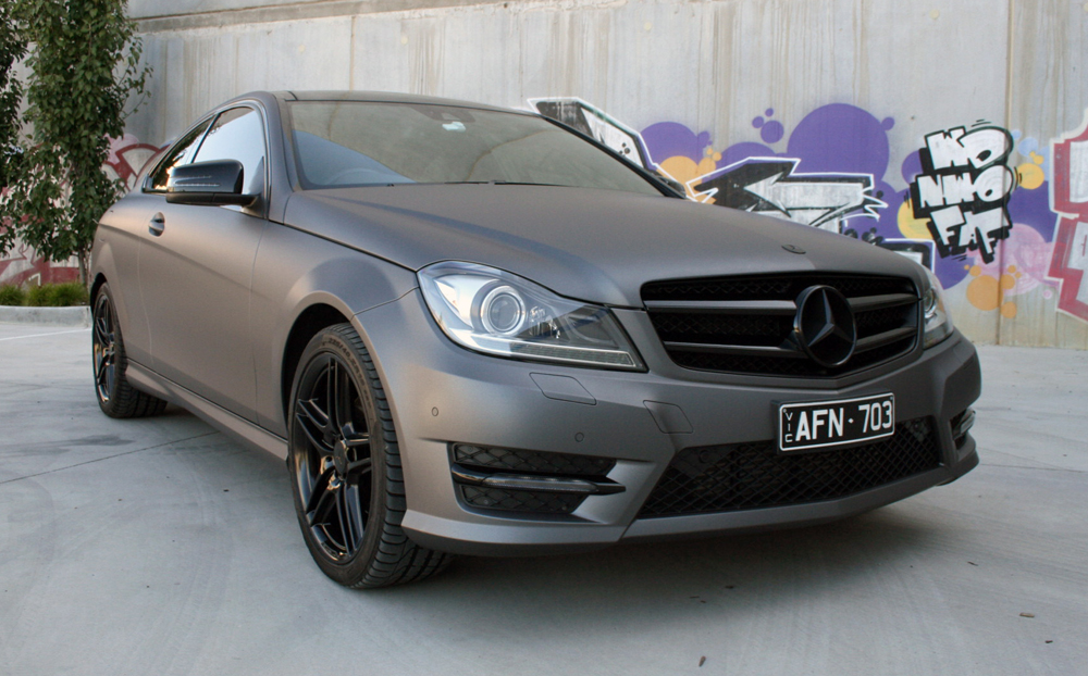 Mercedes Benz C250 Wrapped In Avery Matte Metallic