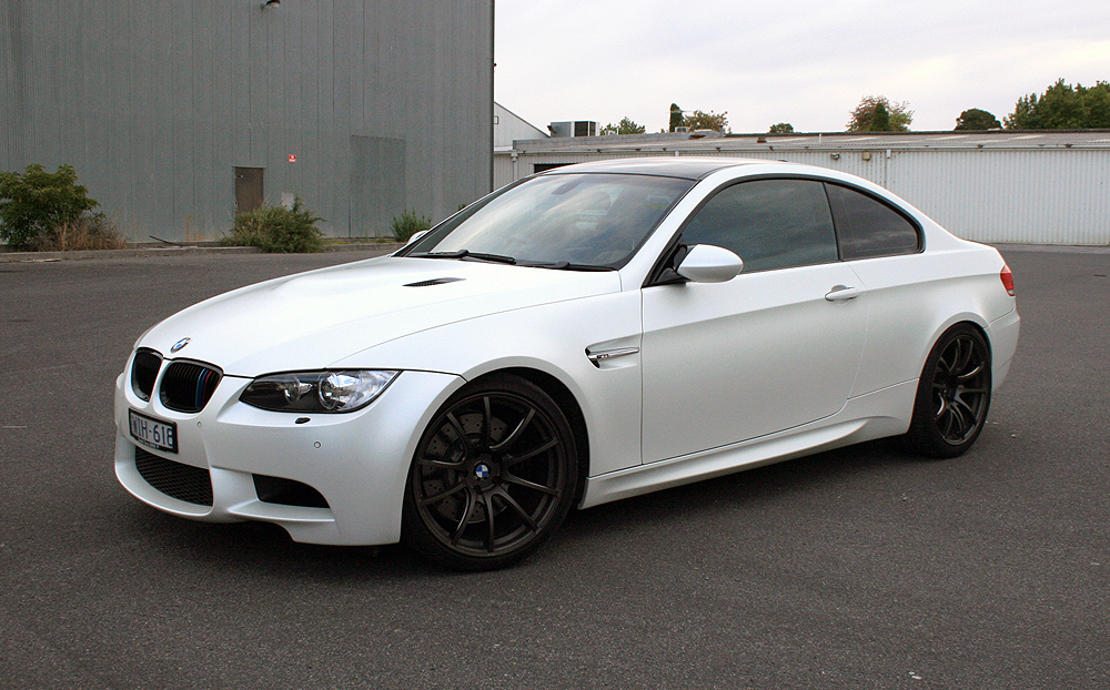 Bmw E92 M3 Wrapped In 3m Satin Pearl White Ultimate Car