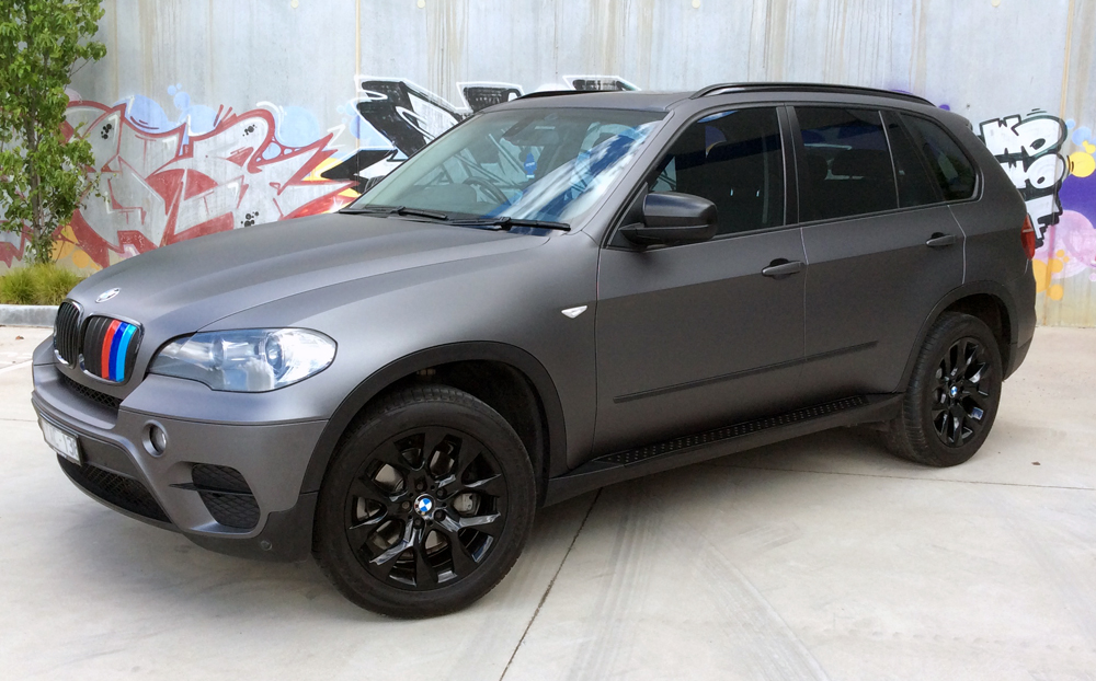 Bmw X5 Wrapped In 3m Matte Dark Grey Ultimate Car Wraps