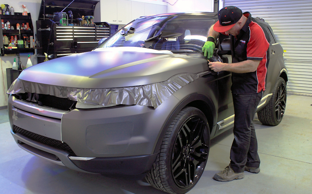 Range Rover Evoque Wrapped In 3m Matte Charcoal Metallic