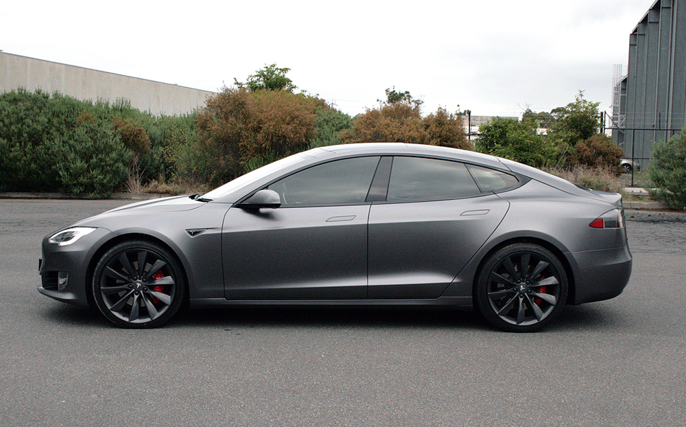 Tesla Model S Wrapped In 3m Satin Dark Grey Ultimate Car
