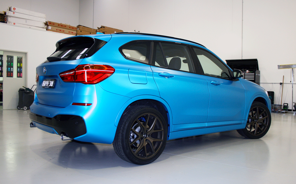 Bmw X1 Wrapped In 3m Satin Ocean Shimmer Ultimate Car