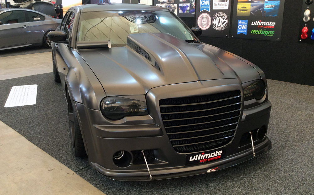 Chrysler 300c Wrapped In Avery Dennison Satin Pearl Nero