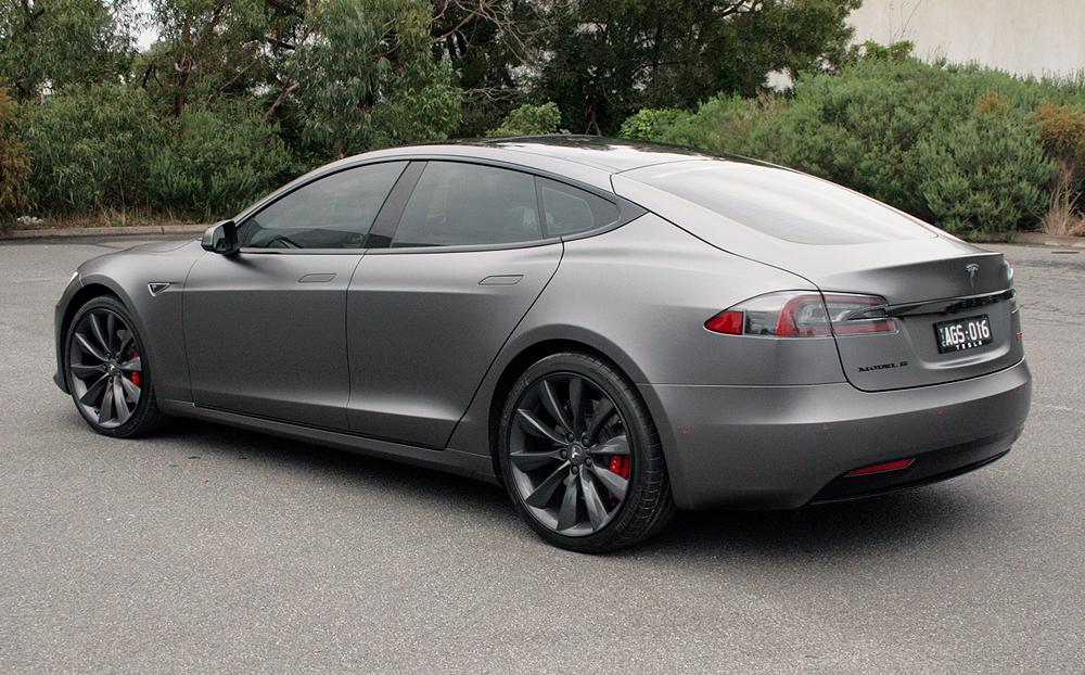 Tesla Model S Wrapped In 3m Satin Dark Grey Ultimate Car