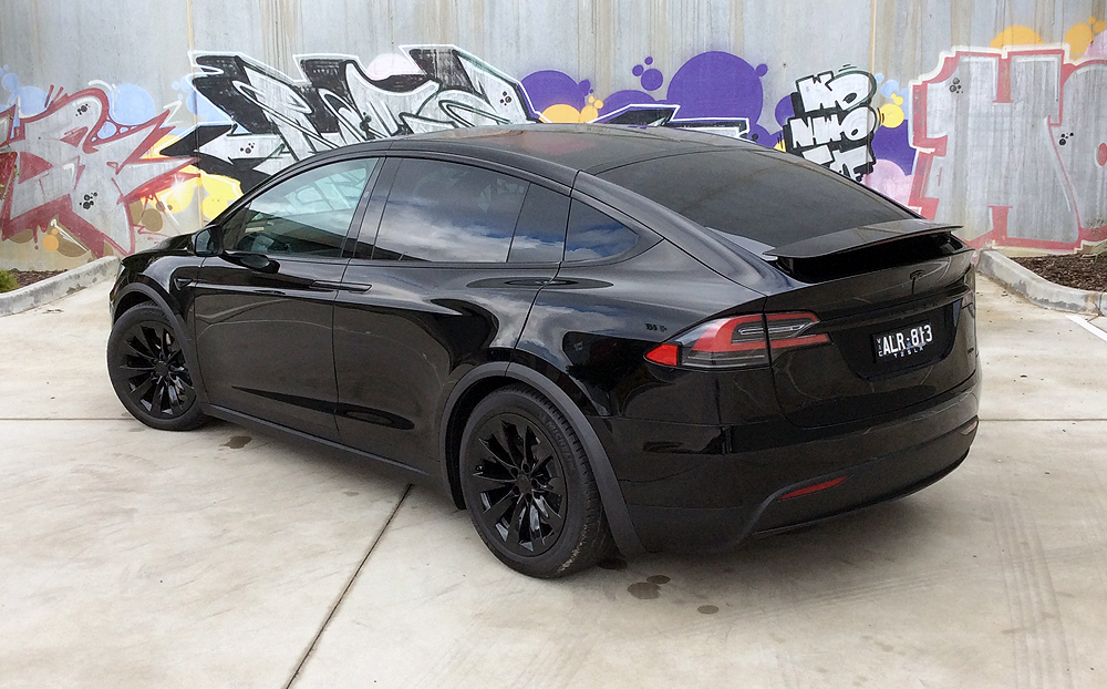 Tesla Model X With All Chrome Blacked Out Ultimate Car Wraps Warrnambool