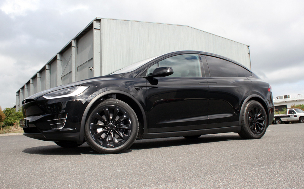 Tesla Model X With All Chrome Blacked Out Ultimate Car