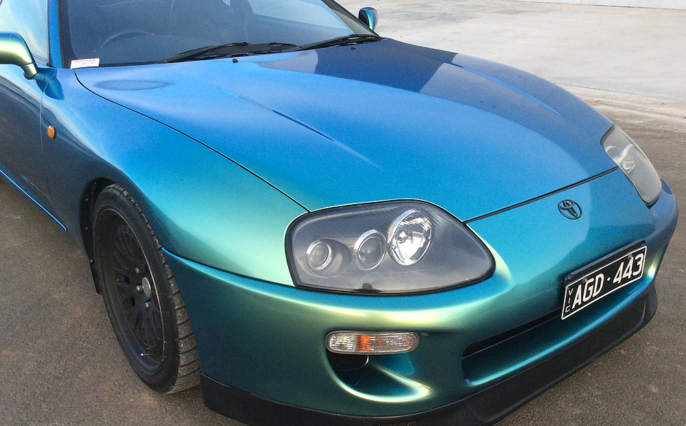 Toyota Supra Wrapped In Hexis Lapis Blue Ultimate Car