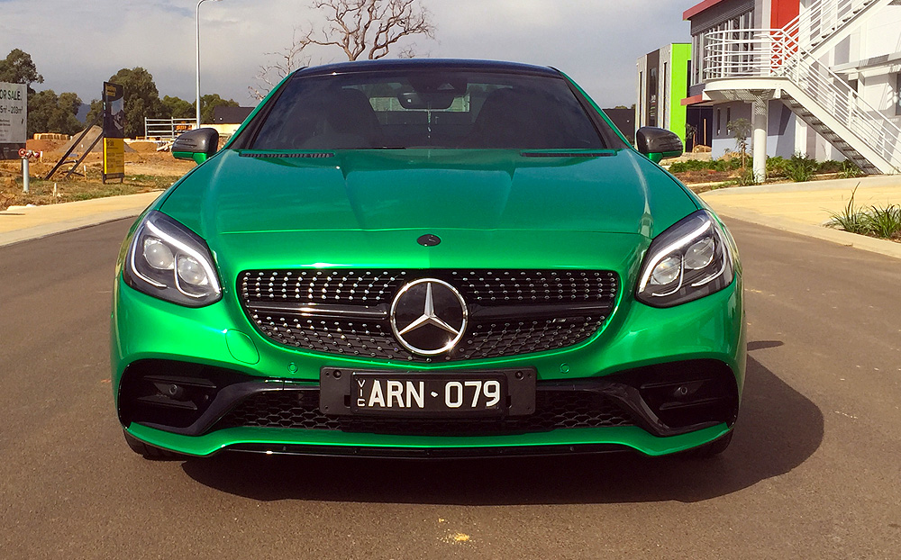 Mercedes Benz Wrapped In 3m Gloss Green Envy Ultimate