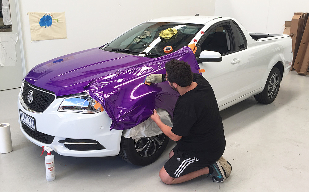 Holden Commodore Ute Wrapped In 3m Gloss Plum Explosion
