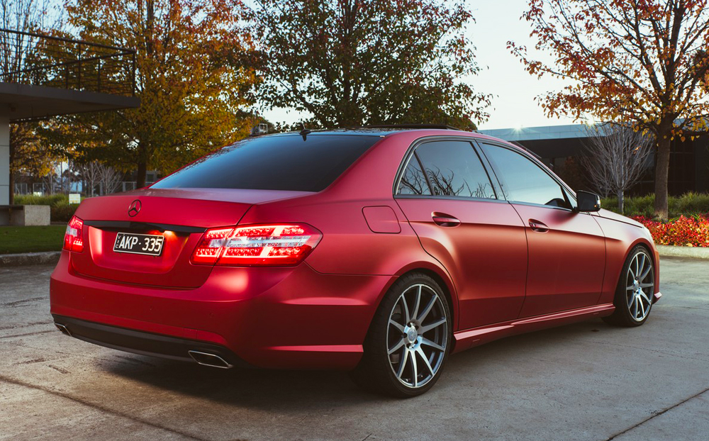 Mercedes Benz Wrapped In Kpmf Matte Iced Red Titanium