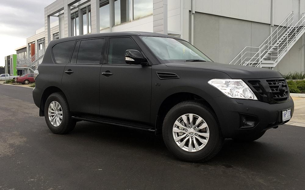 Nissan Patrol Wrapped In 3m Matte Deep Black Ultimate
