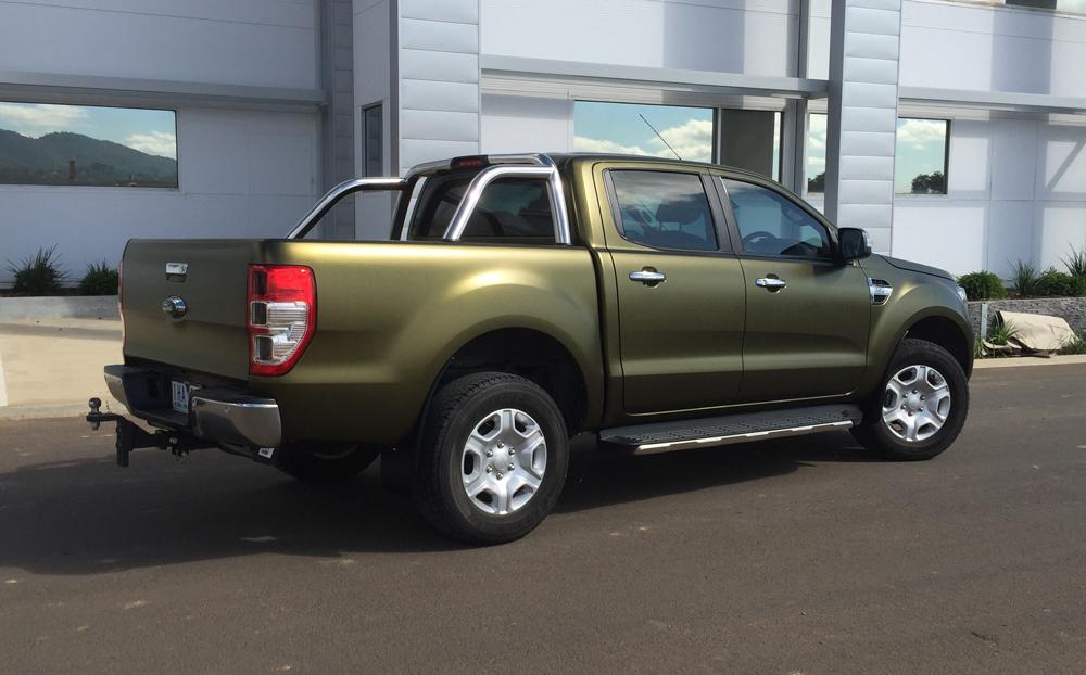 Ford Ranger Wrapped In Hexis Golden Black Matt Ultimate