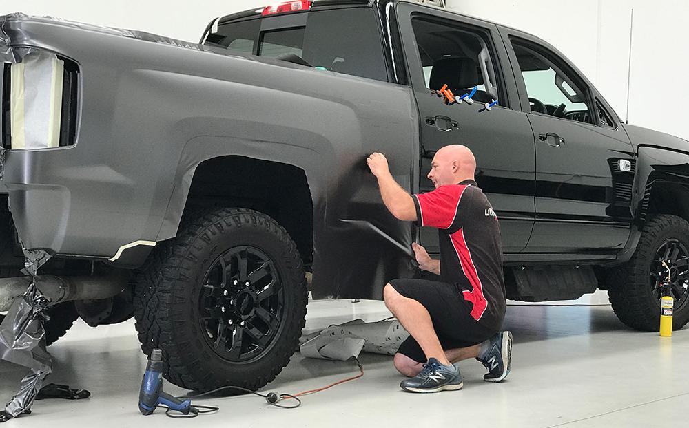 Chevrolet Silverado Wrapped In 3m Satin Dark Gray