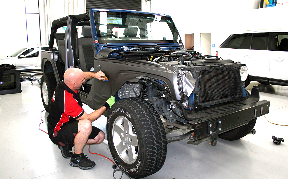 Jeep Wrangler Wrapped In 3m Matte Dark Grey Ultimate Car