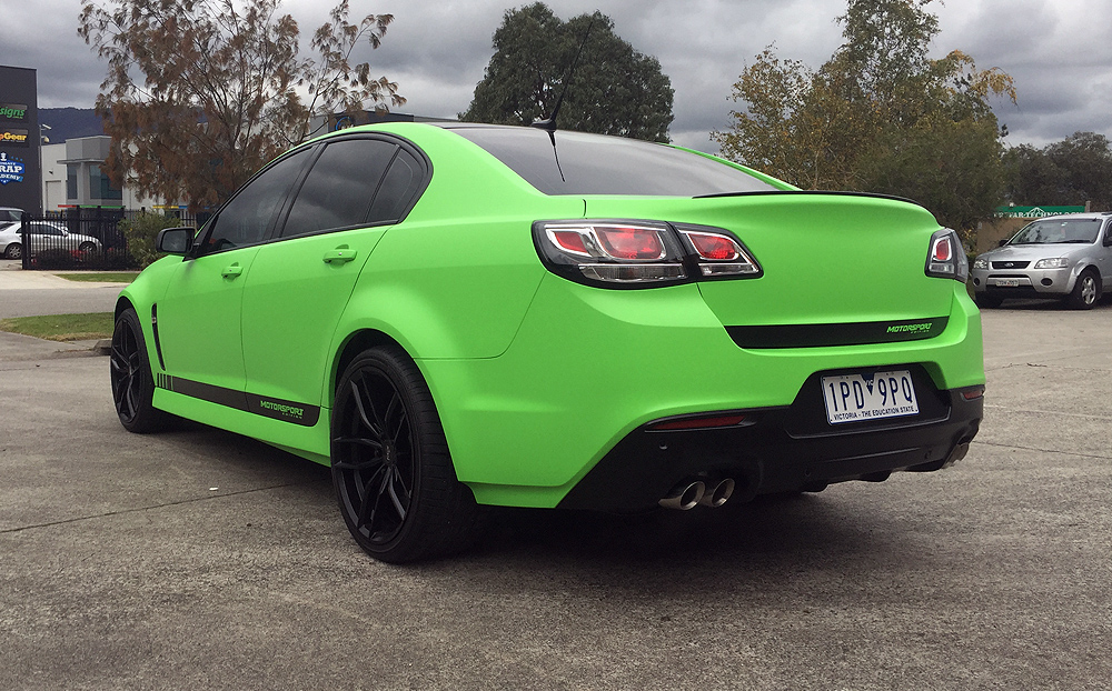 Holden Commodore Wrapped In Hexis Matte Kiwi Green